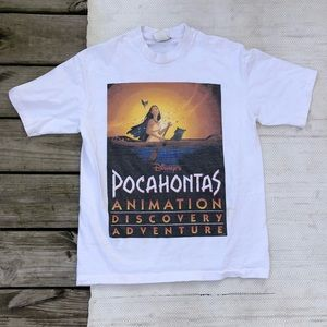 Vintage 1995 Disneys Pocahontas white t shirt